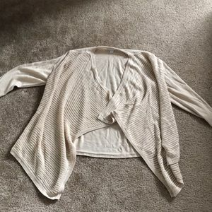 New York & Co Beige Cardigan